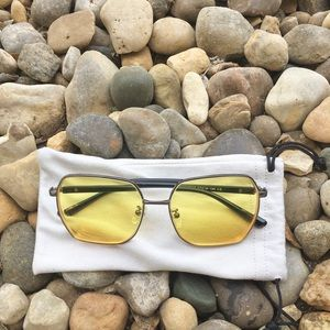 Vintage Square Frame Glasses Polarized Lenses